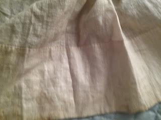 EK original 1850s dress skirt lining detail.