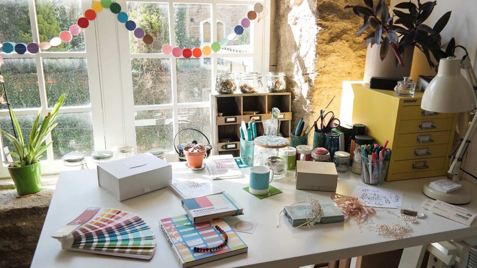 Light and colourful, Clare's studio is in The Silk Mill in Frome