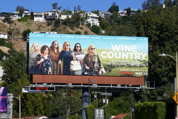 Wine Country movie billboard