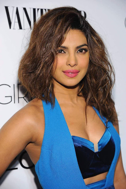 Priyanka Chopra Looking Sexy in Blue Dress