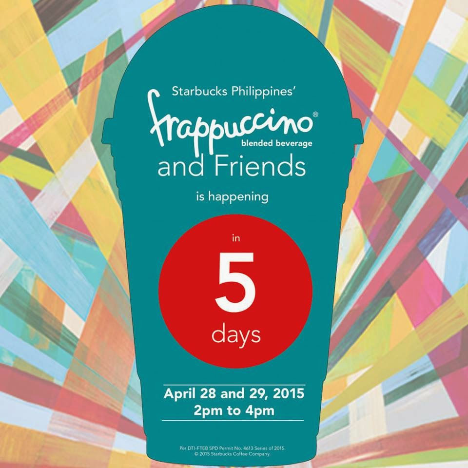 bedf3bd928 Check out Starbucks  Frappuccino   Friends Promo on April 28 and 29