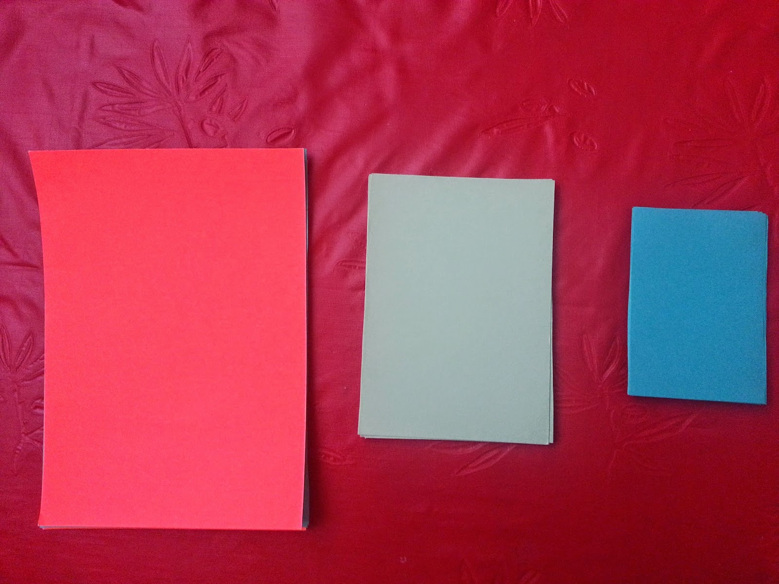Different sizes of card