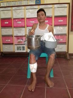 Polisi Lobangi Kaki Spesialis Bandit Bongkar Rumah