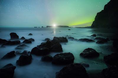 Auroras boreales en Vík