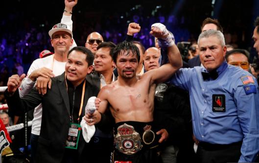 Manny Pacquiao vs Adrien Broner = Manny Pacquiao Win