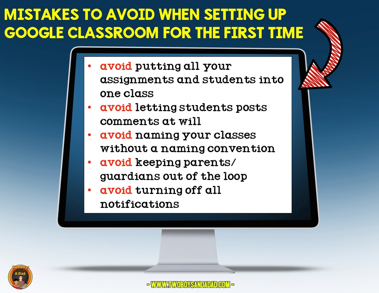 Avoid these mistakes in Google Classroom set up