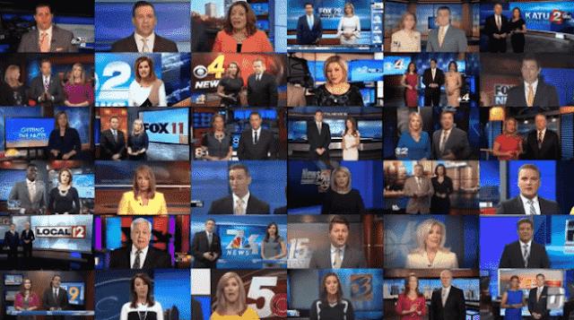 Pensamiento único: Decenas de presentadores en EEUU repiten exactamente las mismas consignas