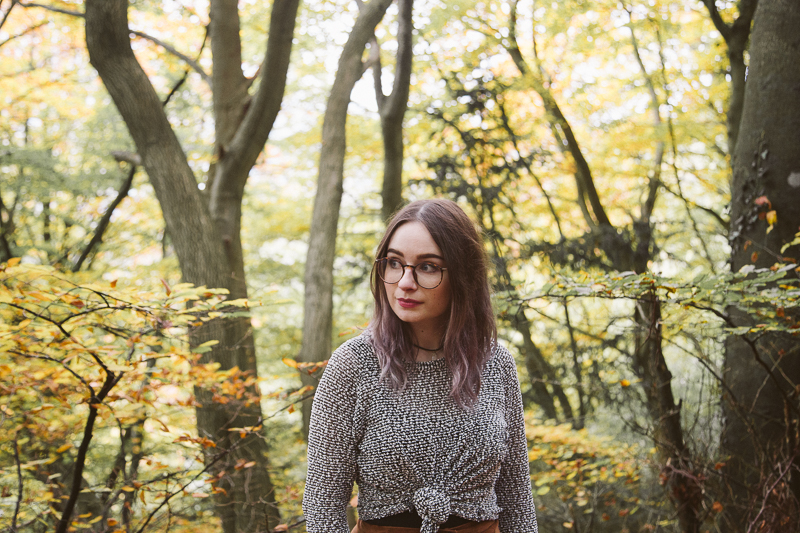 Autumnal Adventures The Outfit girl in the forest