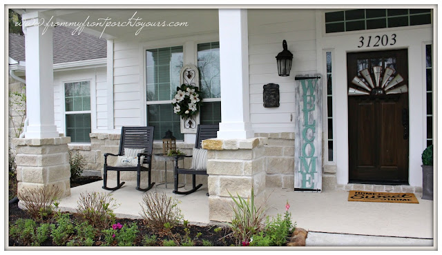 Farmhouse Front Porch-Suburban Farmhouse-Southern Front Porch-Rocking Chairs-From My Front Porch To Yours