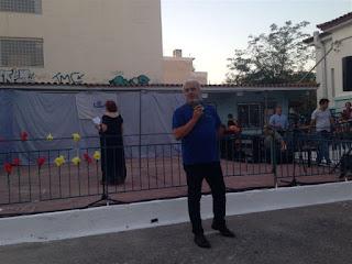 Ο Γιώργος Γαβρίλης κάνει χαιρετισμό στην εκδήλωση
