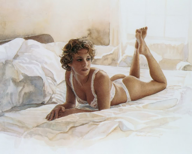 Nude watercolors of steve hanks