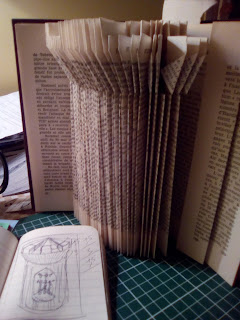Croquis et premiers plis, tour chateau , malooka