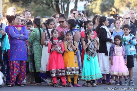 Hundreds of people attended Diwali, the Hindu Festival of Lights, at The Sound Shell in Napier at the weekend. photograph