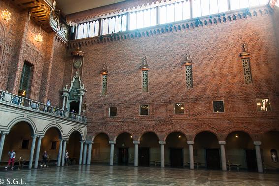 Sala Azul. El ayuntamiento de Estocolmo a orillas del lago Malaren