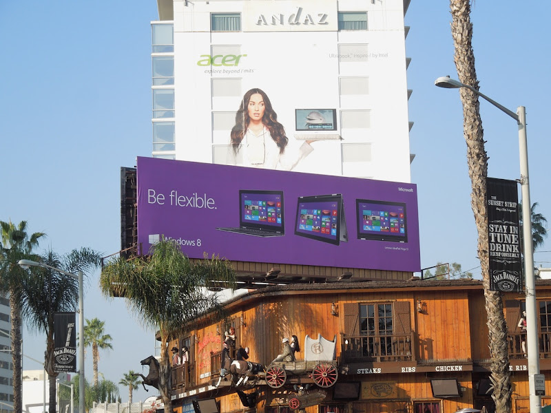 Windows 8 Be flexible billboard