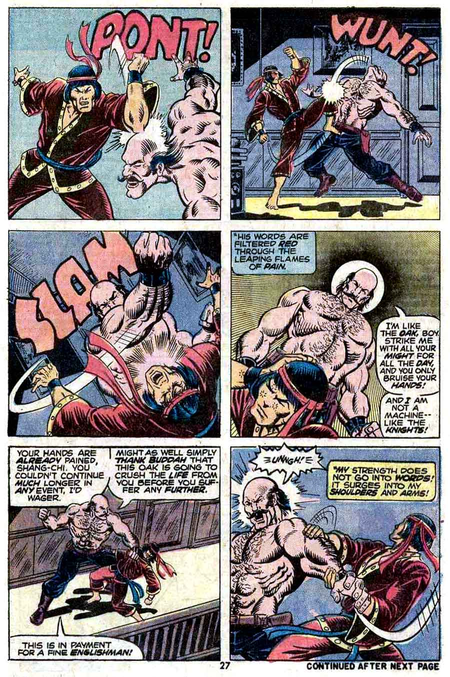 Master of Kung Fu v1 #17 marvel 1970s bronze age comic book page art by Jim Starlin