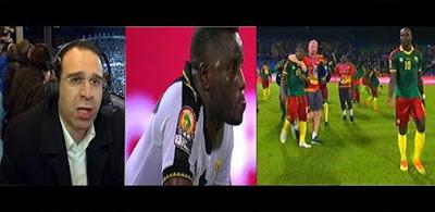 فرحة لاعبي الكاميرون بعد الفوز علي غانا ورسالة عصام الشوالي لمصر