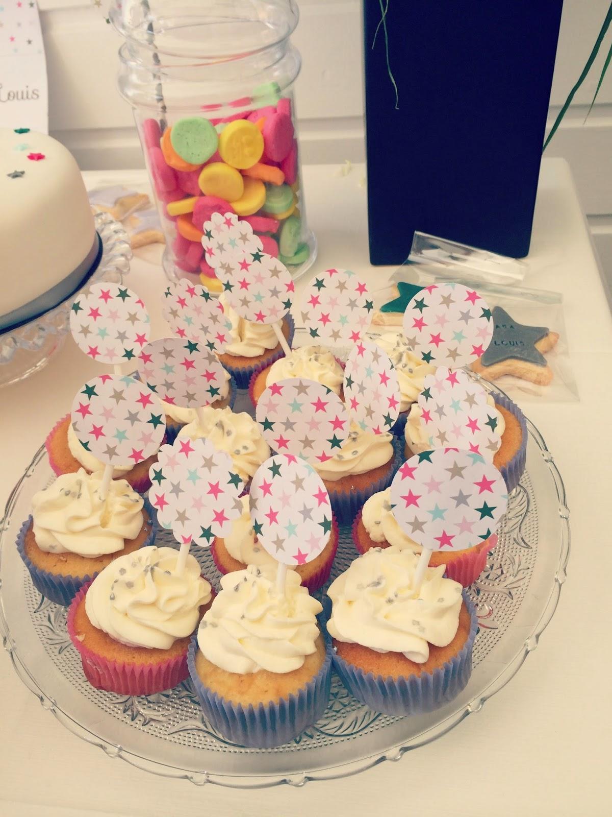 cupcake decores avec etoile
