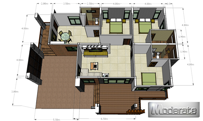 This small house floor plans selection contains homes of every design style.  These affordable house floor plans are floor plans less than 150 square meters regardless of style and design. We hope you will find the perfect affordable floor plans that will help you save money as you build your new home.