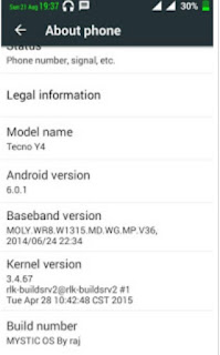 Tecno y4 now support 6 0 Marshmallow Android Version