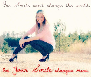 Smile happiness Quotes Wishes For Friend: one smile can't change the world,