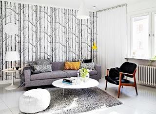Kumpulan Contoh Desain Gambar Wallpaper Dinding Rumah Minimalis untuk Ruang Tamu