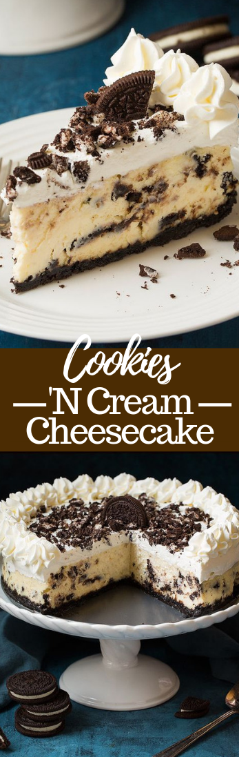Cookies 'N Cream Cheesecake #dessert
