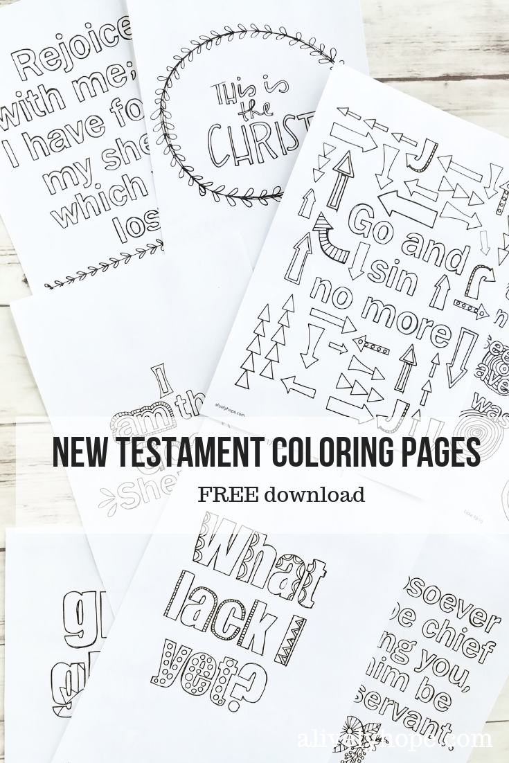 A Lively Hope: New Testament Verses coloring pages (Volume 4)