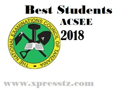 NECTA: Best Students (TOs) Form Six Exams Results ACSEE 2018