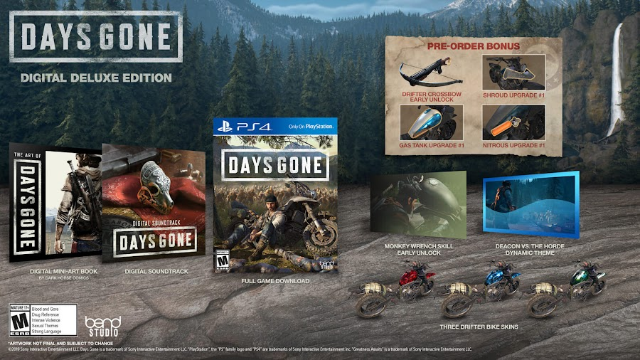 days gone ps4 digital deluxe edition