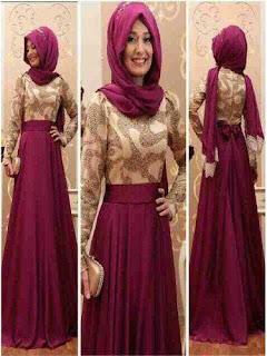 Longdress Batik Kombinasi Tile