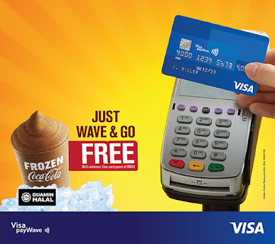 Free McDonald's Frozen Coke with Visa Card Malaysia