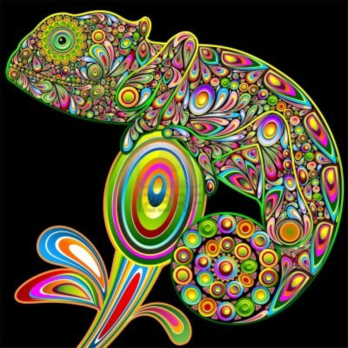 North Park Critters: psychedelic art