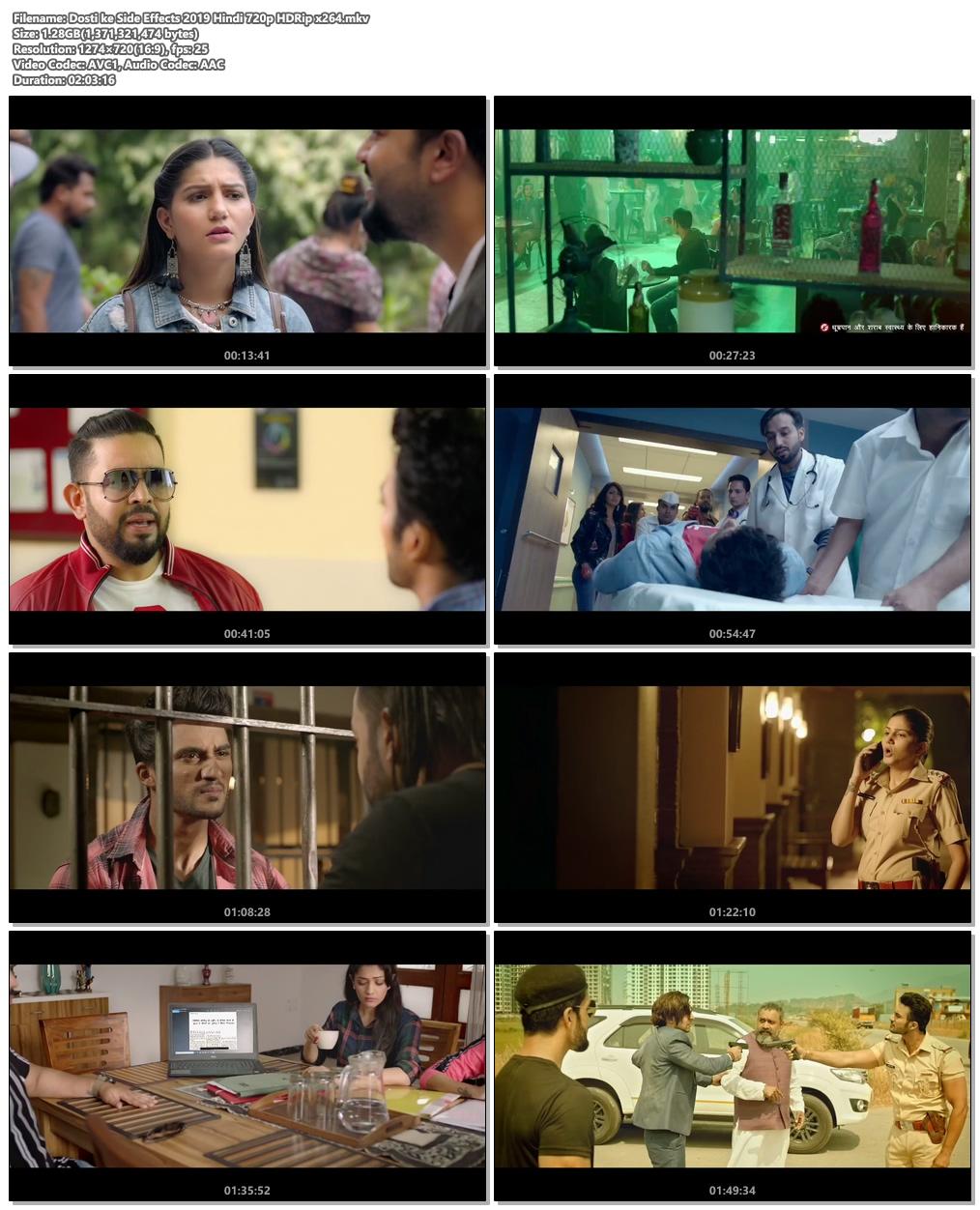 Dosti ke Side Effects 2019 Hindi 720p HDRip x264   480p 300MB   100MB HEVC Screenshot