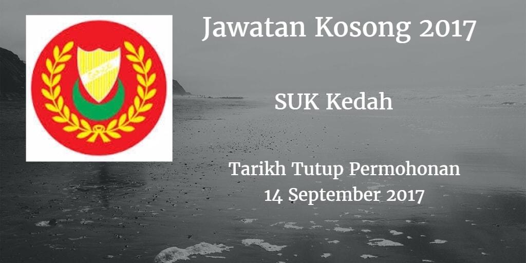 Jawatan Kosong SUK Kedah 14 September 2017
