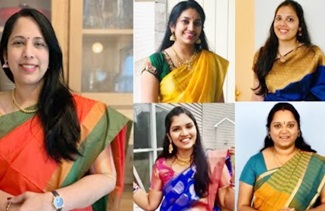 Saree Challenge From Suji's Kitchen & Priyameena Manoharan | Pass SreeManju Vlogs & OneDayTrip