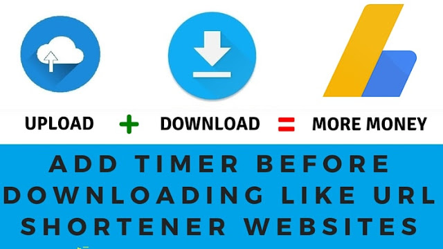 How to add timer before downloading like URL shortener websites and earn more money (Hindi)