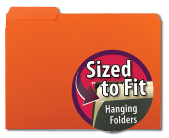 interior file folder, orange
