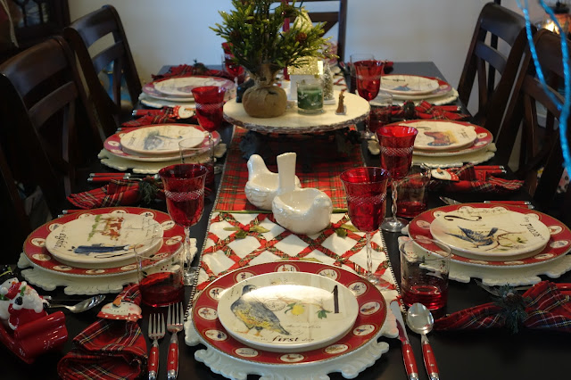 I set the table with my 12 Days of Christmas dinnerware. I think this set is my favorite Christmas set but then I say that about the others too lol. & Christineu0027s Home and Travel Adventures: Christmas Eve Dinner 2016 ...