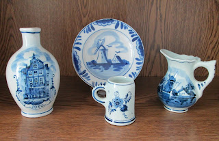 Delft Pottery Miniatures on wood
