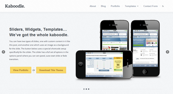 Kaboodle Wordpress Theme Free Download by WooThemes.