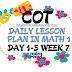 WEEK 7 COT DLP IN MATHEMATICS 1