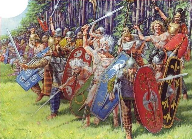 útočící Galové