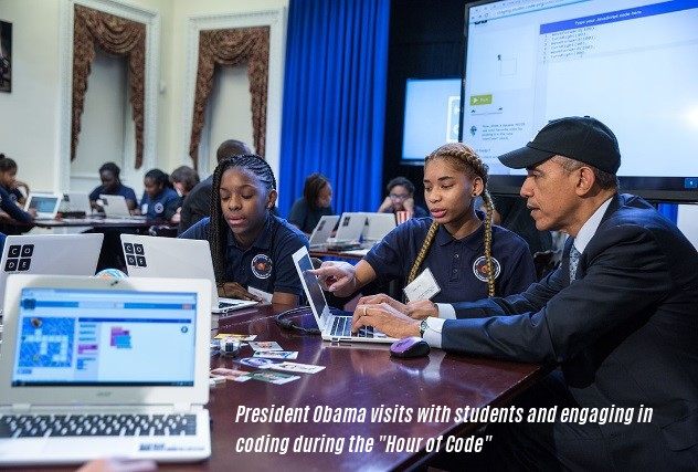 president obama visits hours of code