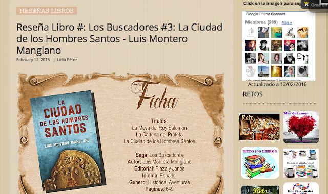 http://yerathel41.wix.com/agarratevienenlibros#!Rese%C3%B1a-Libro-Los-Buscadores-3-La-Ciudad-de-los-Hombres-Santos-Luis-Montero-Manglano/ulspz/56bcfaee0cf2062bd41f6bd6