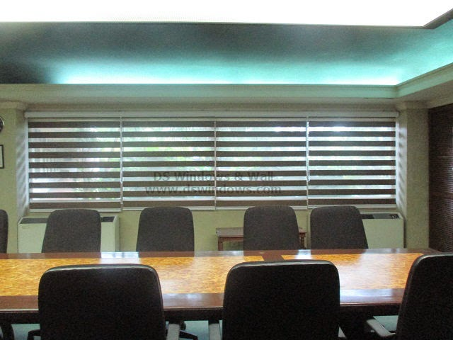 Dual Shade Blinds installed at Boardroom - Makati Central Business District