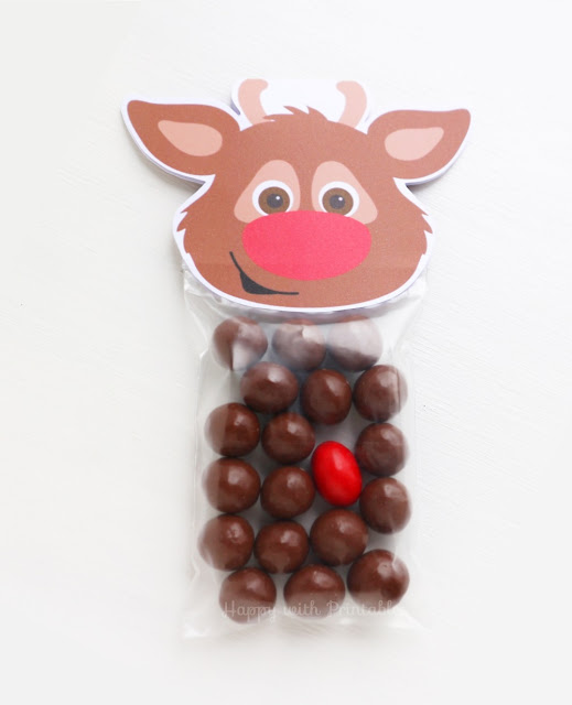 free rudolph printable treat bag label, free treat bag label christmas, free christmas printable, printable rudolph, rudolph the red nosed reindeer printable download for free, free printables