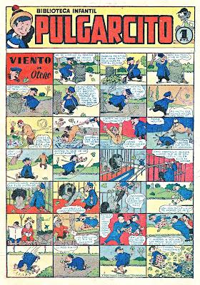 Protasio protagonista de la portada del primer nº de Pulgarcito (1946)