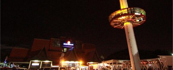 menara taming sari tempat menarik di melaka malam hari