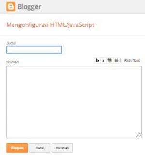 cara membuat widget recents post / artikel terbaru yang bergerak